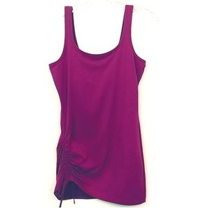 Prana | Side Ruched Dark Pink Tank top